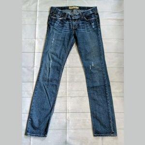 BKE Madison Jeans, medium wash, distressed 28